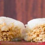 Lumper rijstrolletjes met kipvulling